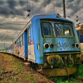 forgotten train by Dragan Rakocevic - Transportation Trains