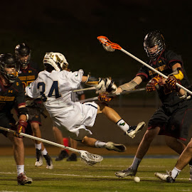 Takeoff! by Kevin Mummau - Sports & Fitness Lacrosse ( big hit, hit, attack, goal, push )