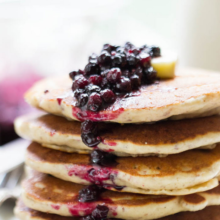 lemon blueberry quinoa pancakes from simply quinoa added by gareth 75