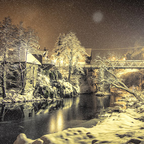 Snow fairy tale by Vedran Bozicevic - Landscapes Weather ( winter, waterscape, snowy, night, landscape,  )