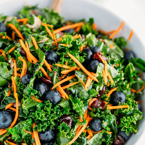 Kale Salad with Blueberries (make-ahead recipe)