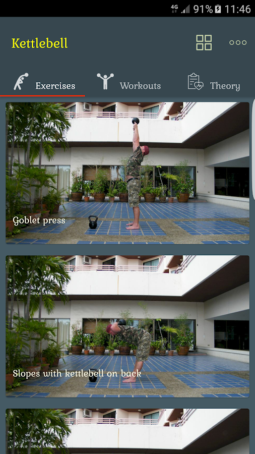 Kettlebells - 100 exercises Screenshot 0