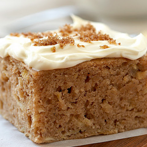 Spiced Apple Cake with Brown Sugar Cream Cheese Frosting