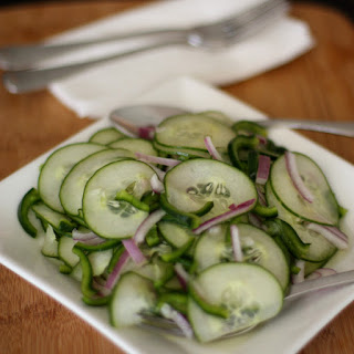 Kicked Up Cucumber Salad