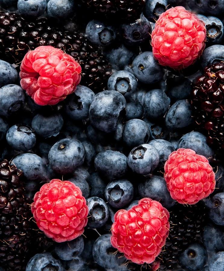 Fruies Of The Field by Russell Mander - Food & Drink Fruits & Vegetables ( red, rasberry, blackberries, black, colours )