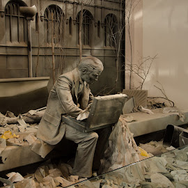 by Gayle M McDermott - Buildings & Architecture Statues & Monuments ( 911fallout, statue, newjersey, newyork )