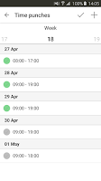 Screenshot of Quinyx Mobile