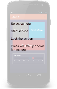 Spy Cam using Volume Button- screenshot thumbnail