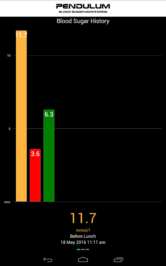 Pendulum Blood Sugar Monitor Screenshot 11
