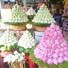 flowers of Cambodia by Brigitte Vandermeersch - City,  Street & Park  Markets & Shops