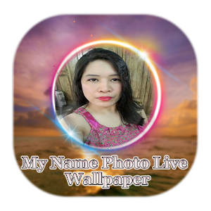 Neon Photo Name Live Wallpaper