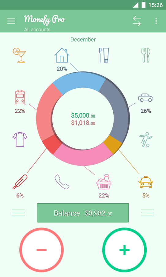 Monefy Pro - Money Manager Screenshot 0