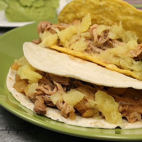 Slow Cooker Pineapple and Pork Tacos