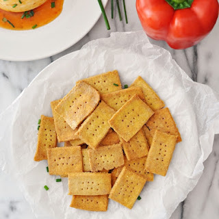 Gluten Free Chickpea & Polenta Homemade Crackers