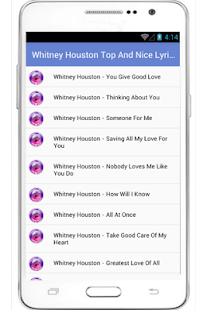 Whitney Houston Top Song - screenshot