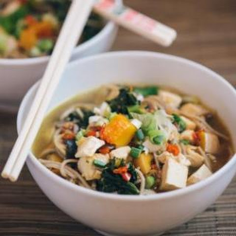 Winter Soba Noodle Soup -vegan