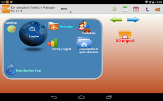 Screenshot of Congregation Territory Manager