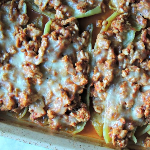 5-Ingredient Stuffed Banana Peppers {GF}