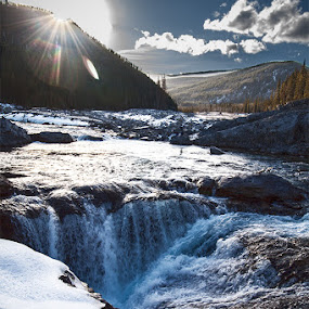 Winter waterfall by Zoran Mrđanov - Landscapes Waterscapes (  )