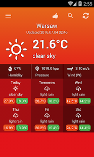 Weather Poland screenshot for Android