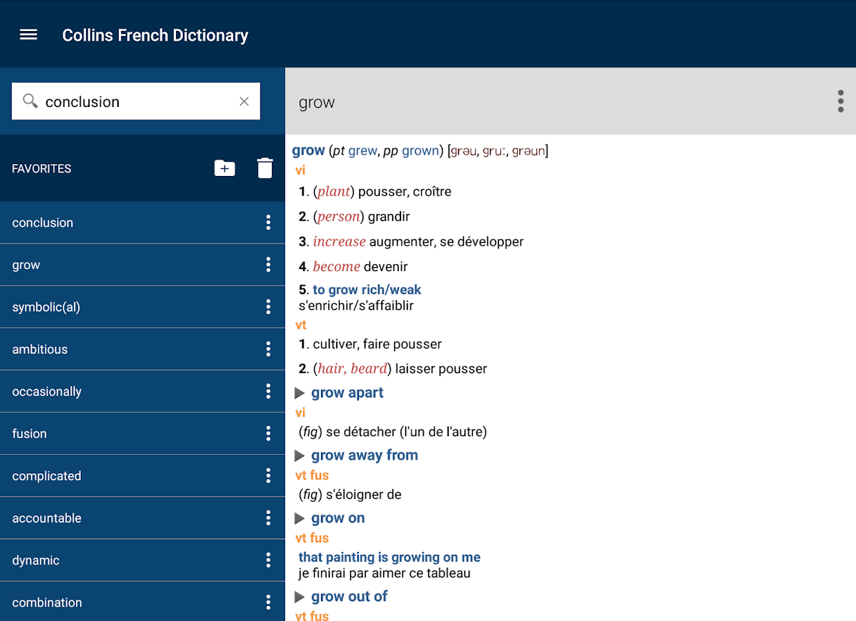 Collins French Dictionary Screenshot 13