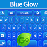 GO Keyboard Blue Glow Icon