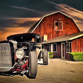 Old Ford by Apollo Reyes - Transportation Automobiles ( car, barn, automobile, ford,  )