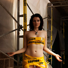Caution by Jason Renek - People Portraits of Women ( jason renek, caution, fine art, women, portrait, devilish creations )