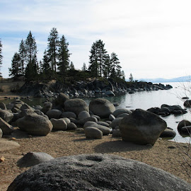 Lake Tahoe Rocks by Christine B. - Landscapes Waterscapes ( nevada, shoreline, lake, rocks, lake tahoe,  )