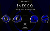 INDIGO HD Icon Pack blue black- screenshot thumbnail