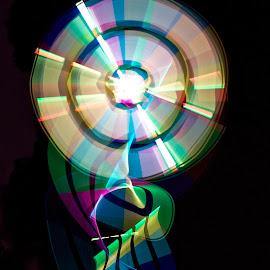 Medal of Light by Xn Tyler - Abstract Light Painting ( abstract, kincaid, light painting, wheel, xn, color, dark, lightbar, spin, motion, xn tyler, painting, light, medal )