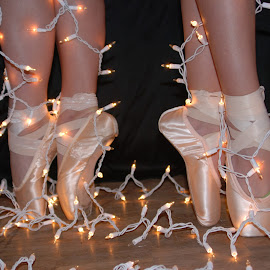 Dancing Feet by Jennifer Brickerd - People Musicians & Entertainers ( dancers, art, pointeshoes, ballet )