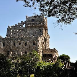 Gillette Castle by Janice Burnett - Buildings & Architecture Architectural Detail ( detail, connecticut, fortress, gillette castle state park, stone, rock, castle, gillette castle, usa )