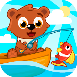 Fishing for kids. Icon