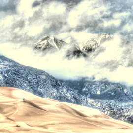 snow and sand by Steve Tharp - Landscapes Mountains & Hills