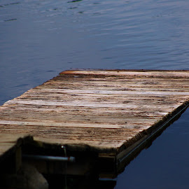 The Dock by Leah Zisserson - City,  Street & Park  City Parks ( wood, blue, virginia, lake, dock )