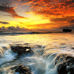 Double Flow by Agoes Antara - Landscapes Waterscapes
