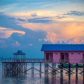 My dream home  by Alfi Nurulhida - Buildings & Architecture Homes ( sascape, architecture, sunrise, beach, house, relax, tranquil, relaxing, tranquility )