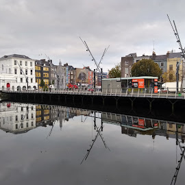 Winter morning reflections by Anubhav Das - Instagram & Mobile Android ( phone, cork, ireland, riverside, city life, reflections )