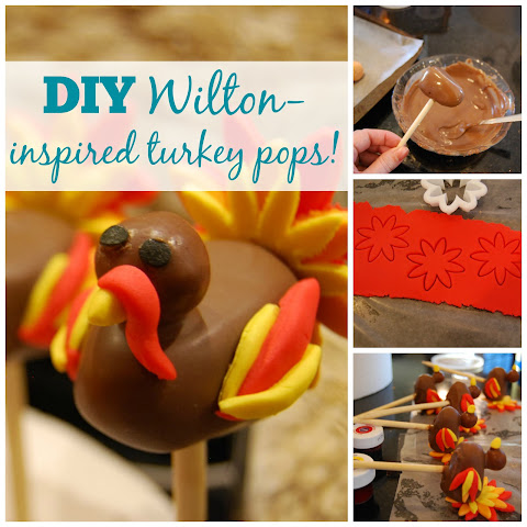Turkey cake pops inspired by Wilton!