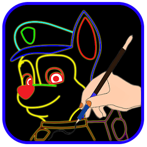Draw Glow Paw Patrol For PC