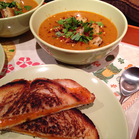 Roasted Red Pepper and Red Lentil Soup