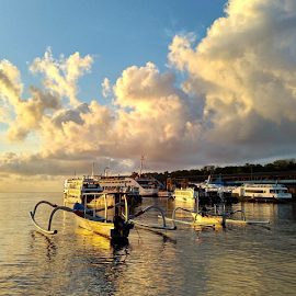 Bali boat by Shane Cassidy - Transportation Boats ( bali, fishing, kayak, boat, fishing boat, candi dasa )