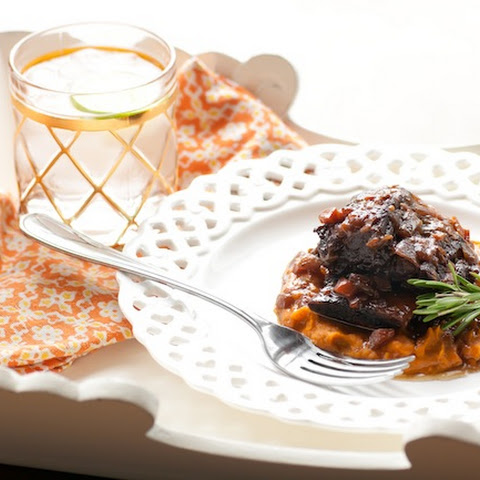 Wine-braised Beef Short Rib With Rosemary And Bacon Sweet Potatoes (shhh … It's Paleo!)