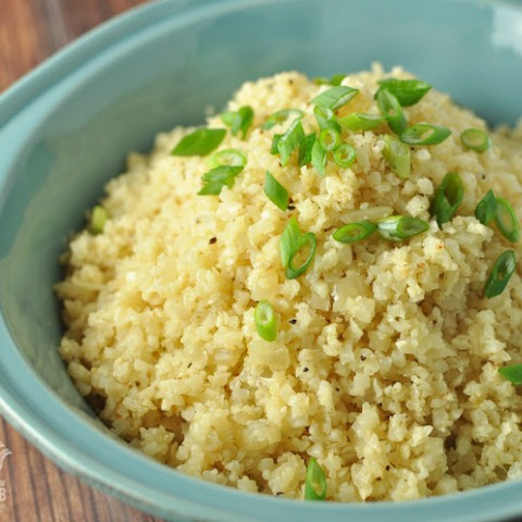 Buttery Cauliflower Rice Pilaf - Low Carb, Gluten Free
