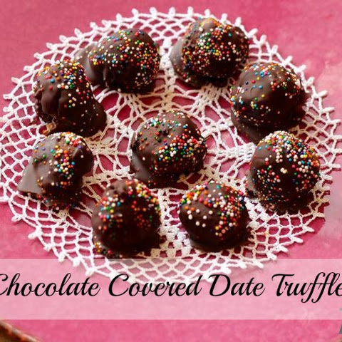 Chocolate Covered Date Truffles
