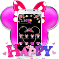 App Pink Black Micky Bow Glitter Theme apk for kindle fire
