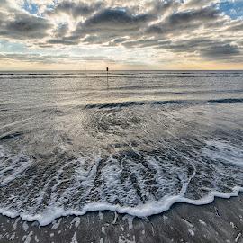 Wave by Froddy Baun - Landscapes Beaches ( clouds, fanø, wave, denmark, beach )