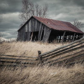 Tough Times Homestead by Nick Kelleher - Buildings & Architecture Decaying & Abandoned ( clouds, dilapidated, urbex, sky, canada, ontario, lightroom, decay, abandoned )
