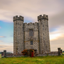 Hiorne Tower by Bela Paszti - Buildings & Architecture Public & Historical ( history, west sussex, arundel, england, tower, green, sunset, long exposure )